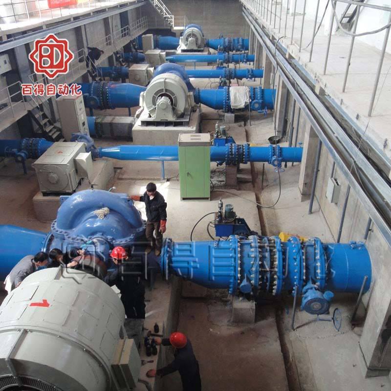 蓄能器式液控缓闭蝶阀在内蒙阿拉善孪井滩黄河引水灌溉