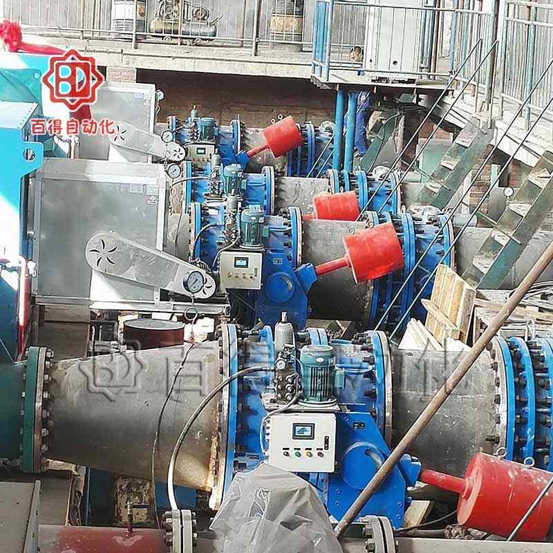 一体式液控蝶阀在山西运城河津黄河引水灌溉调试现场