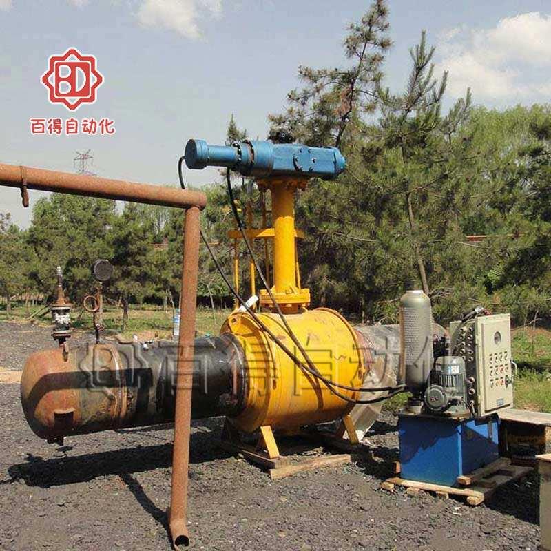 液控快关阀在天然气管路现场打压测试