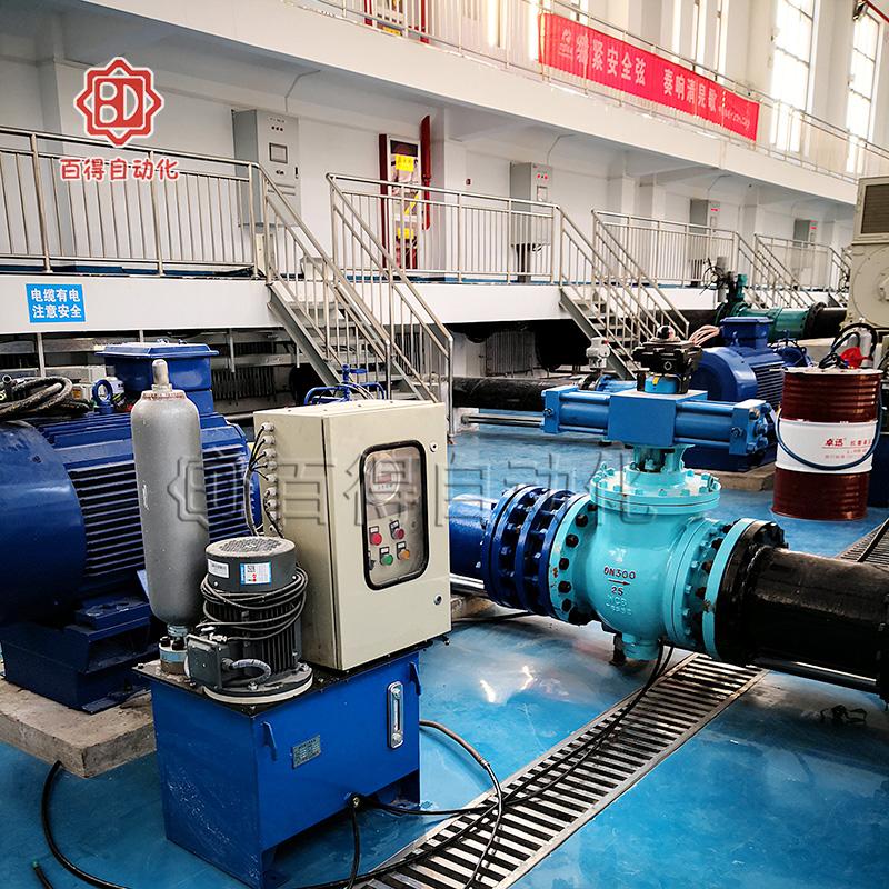 液控止回偏心半球阀在延安高家湾水厂